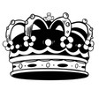 crown king hand drawn on white vector image