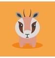 Cute Cartoon gazelle vector image vector image