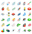 diagram icons set isometric style vector image vector image