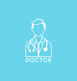 doctor logo icon design vector image vector image