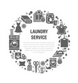 dry cleaning banner with flat glyph vector image