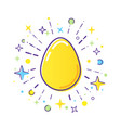easter line logo vector image vector image