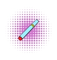 Electronic cigarette part icon comics style vector image vector image