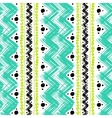ethnic pattern hand painted with zigzag vector image vector image
