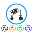 euro cash flow rounded icon vector image