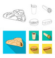 fast meal eating and other web icon in outline vector image vector image
