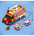Food Truck 08 Vehicle Isometric vector image vector image