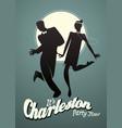 funny man dancing charleston vector image vector image
