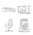 furniture and work symbol vector image vector image