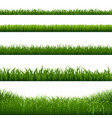 grass frame borders vector image vector image