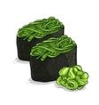 Gunkan Chuka Seaweed vector image vector image