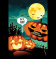 halloween carving party background vector image