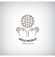 holding world logo eco protection of the vector image