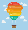 Hot air balloon infographic vector image vector image