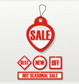 hot deal red 3d realistic paper sale tags vector image vector image