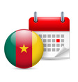 Icon of national day in cameroon vector image vector image