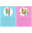 international day of families poster set with text vector image