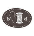 isolated tailor shop thread and needle design vector image