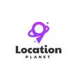 logo location gradient line art style vector image vector image