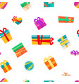 merry christmas presents in boxes with wrapping vector image vector image