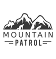 Mountain icon badge vector image