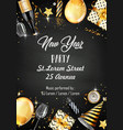 new year party design template with elements vector image vector image