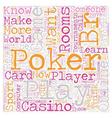 online poker rooms3 text background wordcloud vector image vector image