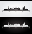 porto skyline and landmarks silhouette vector image vector image