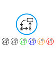 pound dollar flow chart rounded icon vector image