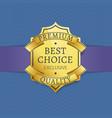 premium quality golden label certificate design vector image vector image