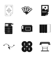 Print icons set simple style vector image vector image