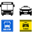 public transportation icons and signs vector image