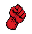 raised fist icon vector image vector image