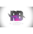 rd r d zebra texture letter logo design vector image vector image