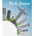Rio de Janeiro skyline with grey buildings vector image vector image
