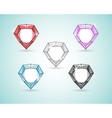 Royal diamond color set vector image