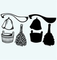 Sauna ready accessories vector image