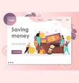 Saving money website landing page design