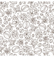 seamless coffee background with branch coffee vector image vector image