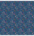 seamless pattern heart doodles background vector image vector image
