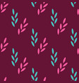 seamless pattern of abstract plants on a red vector image vector image