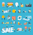 set of flat design style people icons vector image vector image