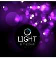 Shiny light abstract design template vector image