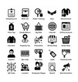 shopping icons set 4 vector image
