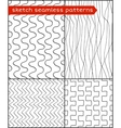 Sketch seamless patters vector image