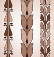 Vintage decorative set brown floral pattern vector image
