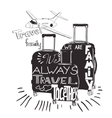 vintage lettering baggage for travel Travel vector image