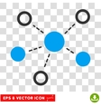 Virtual Links Eps Icon vector image vector image