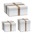 white shipping boxes vector image vector image