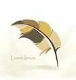 writing pen multicolored bird feather vector image vector image